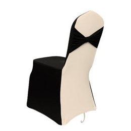 Фото Чехол на стул - серый / белый